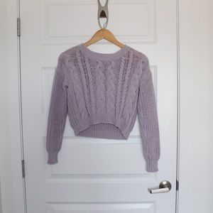 Cropped Purple Knot Sweater